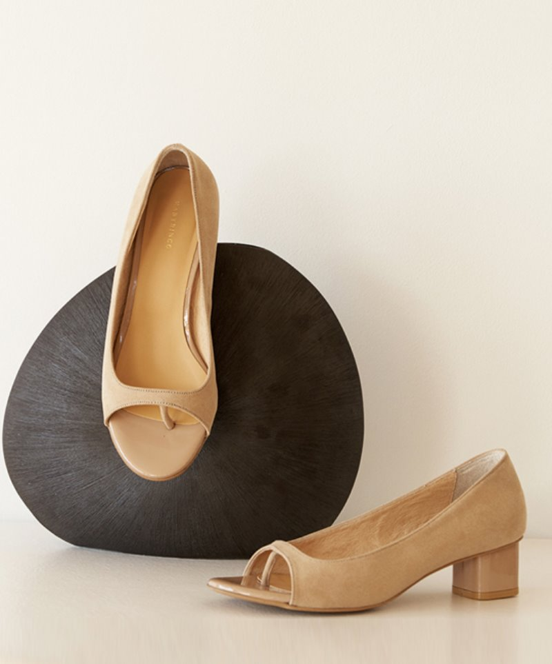 NO. Anne Modern Open Toe heel_BEIGE